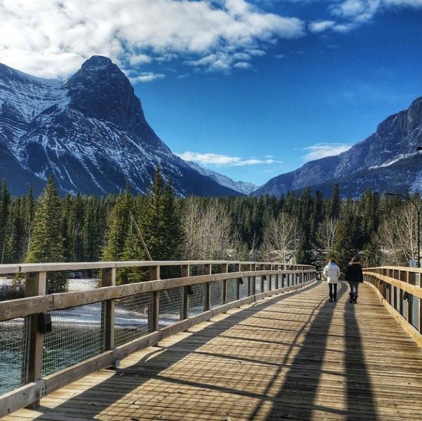 canmore canada bridge
