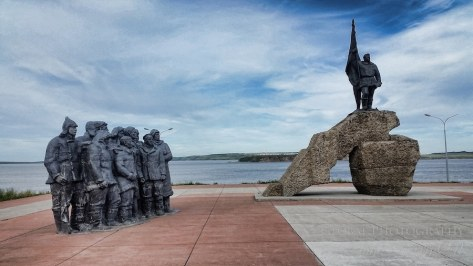 First workers of Chukotka memorial