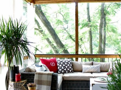 screened porch reminiscing, before and inspiration