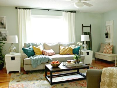 A Living Room Makeover with Lowe's