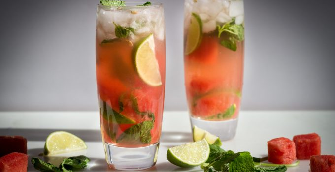 Just in Time for the Weekend: Healthy Watermelon Mojitos