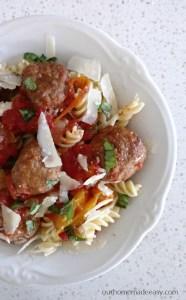 Easy Slow Cooker Italian Meatballs & Peppers Recipe
