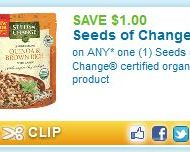 $1/1 Any Organic Seeds of Change Product Printable Coupon