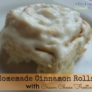 Homemade Cinnamon Roll Recipe With Cream Cheese Frosting