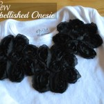 No Sew Embellished Onesie Tutorial