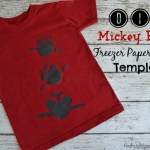 DIY Mickey Plane Freezer Paper Stencil Shirt (Plus Printable Template)