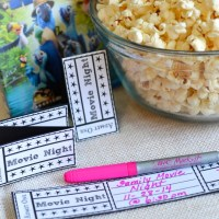 Family Movie Night & Printable Movie Tickets