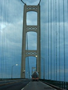 What most people see when crossing Mackinac Bridge.