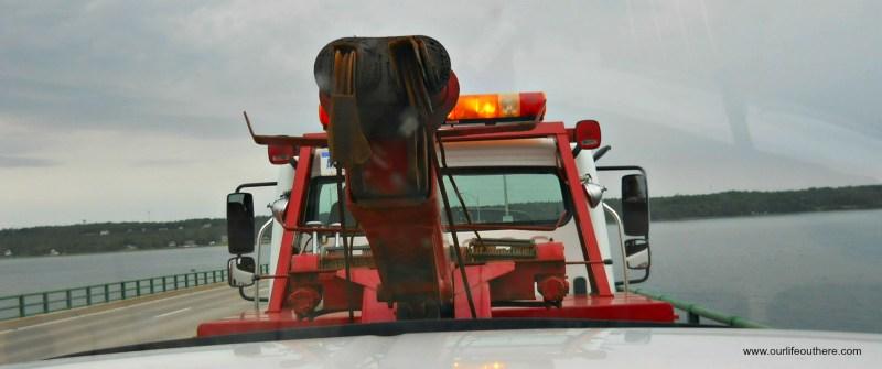 Tow truck header