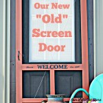 Screen doors are essential to any farmhouse. Read how to add character to a boring hardware store door. #diy #screendoor #farmhouses