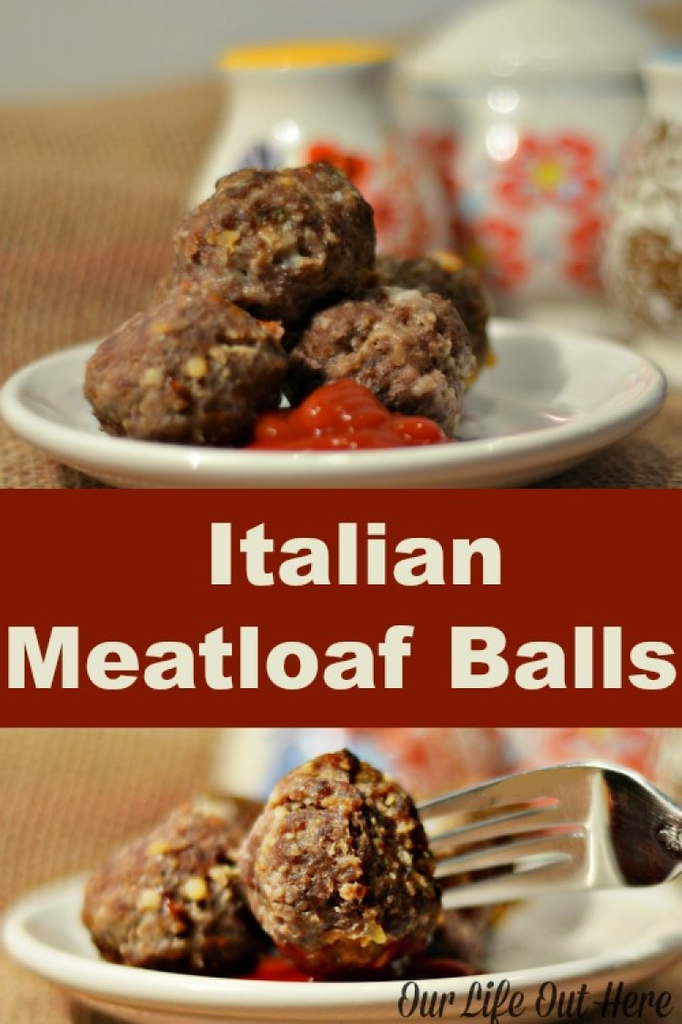 These Italian Meatloaf Balls are made without pre-made bread crumbs and cooking them in a mini muffin pan allows the grease to drain off. Plus, they're delicious! #beefrecipes #comfortfood