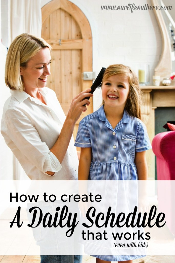 Why you need a daily routine instead of a daily schedule. Plus, a free printable to help you get started!