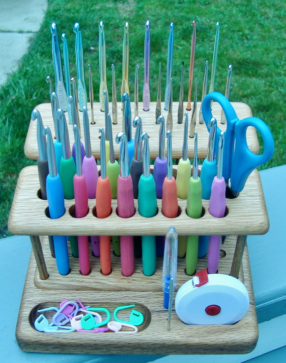 Wood Crochet Hook Holder