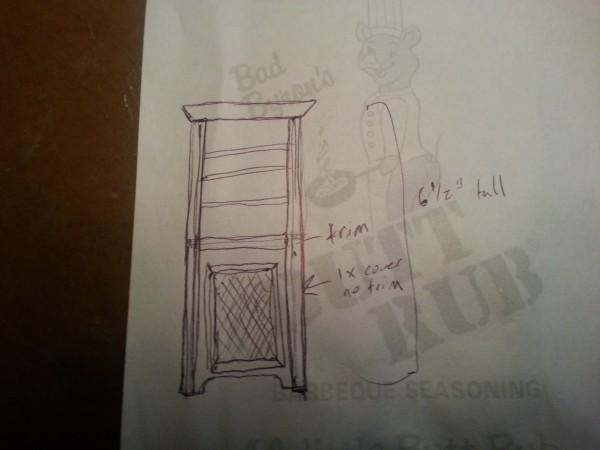 Radiator bookshelf plan