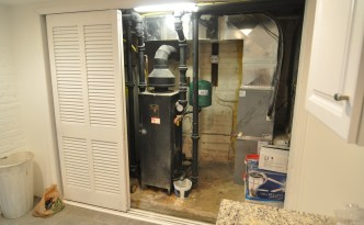 Basement mechanical closet