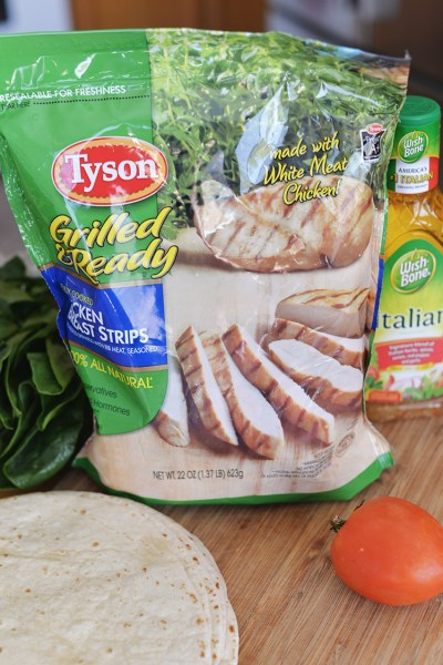 Simple Summer Lunch – Italian Tyson® Grilled & Ready® Chicken and Spinach Wrap