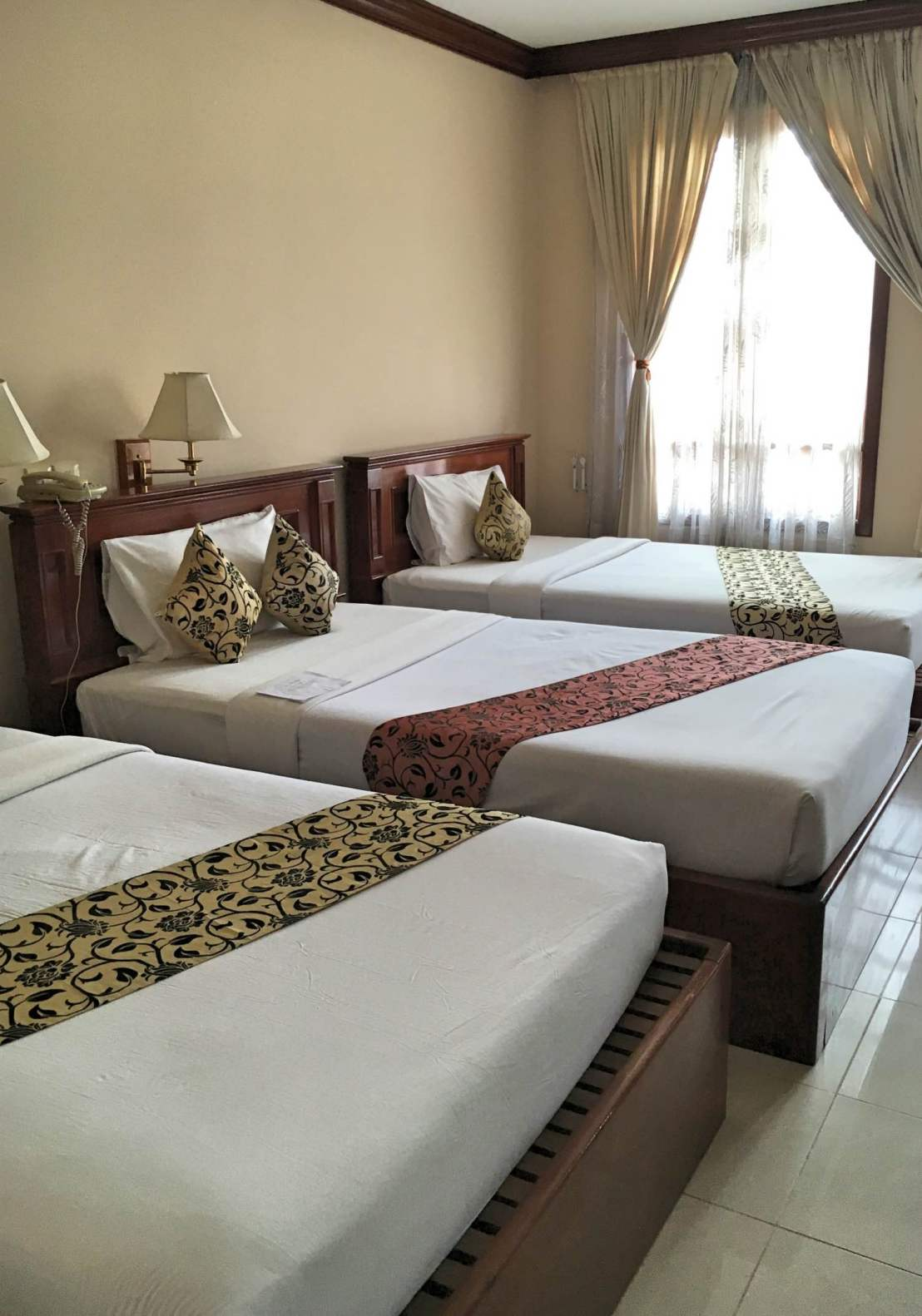Triple room at the Soria Moira hotel in Siem Reap