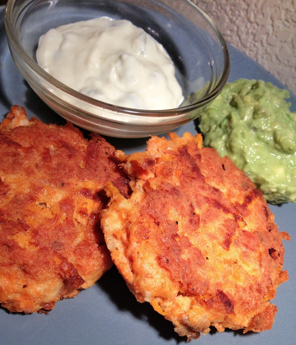 Paleo Shredded Potato Salmon Cakes