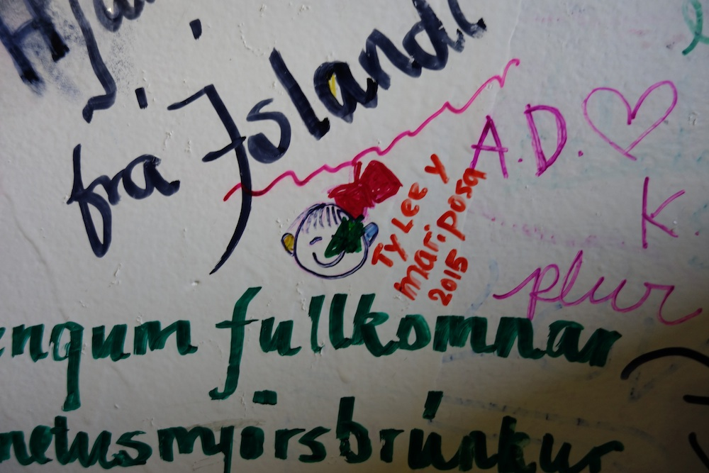 There are not a lot of international food options in Salento. The one burger joint in town - Brunch - is pretty good. The best part is that Ty got to autograph the wall.