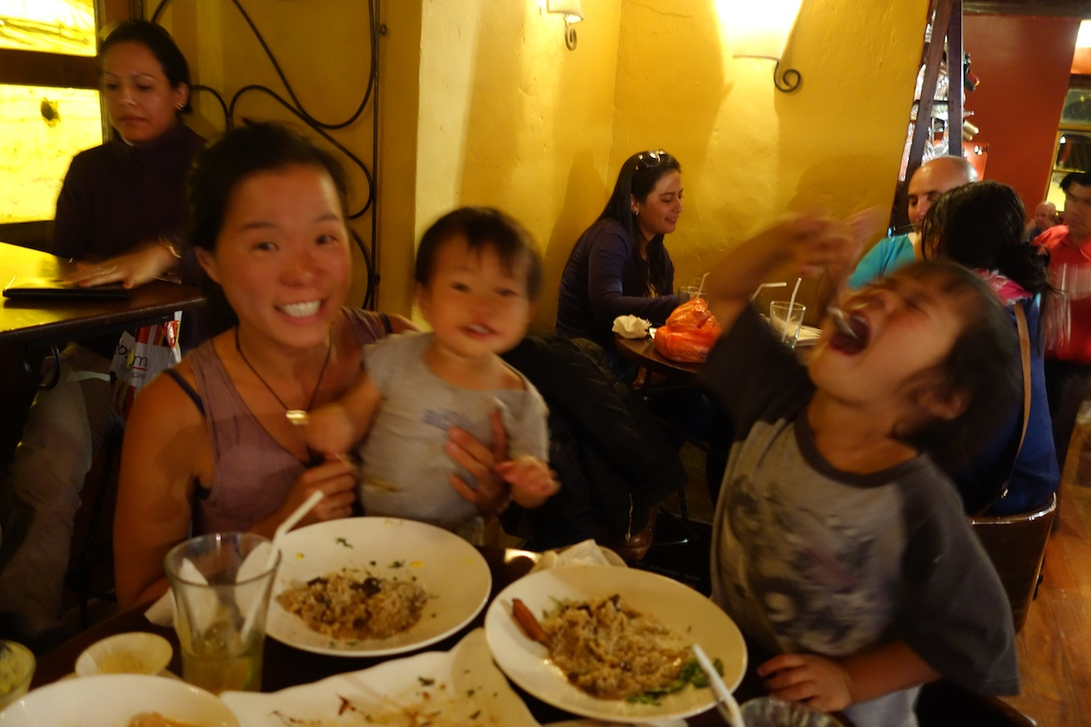 One of our many meals eating out in Cusco.