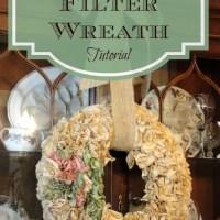 Coffee Filter Wreath Tutorial