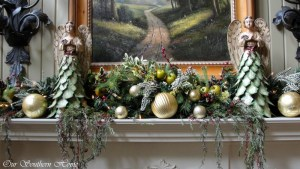 Creating A Christmas Mantel