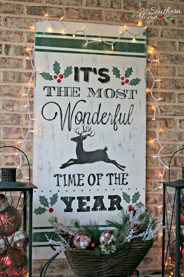 Vintage Look Christmas Sign Our Southern Home