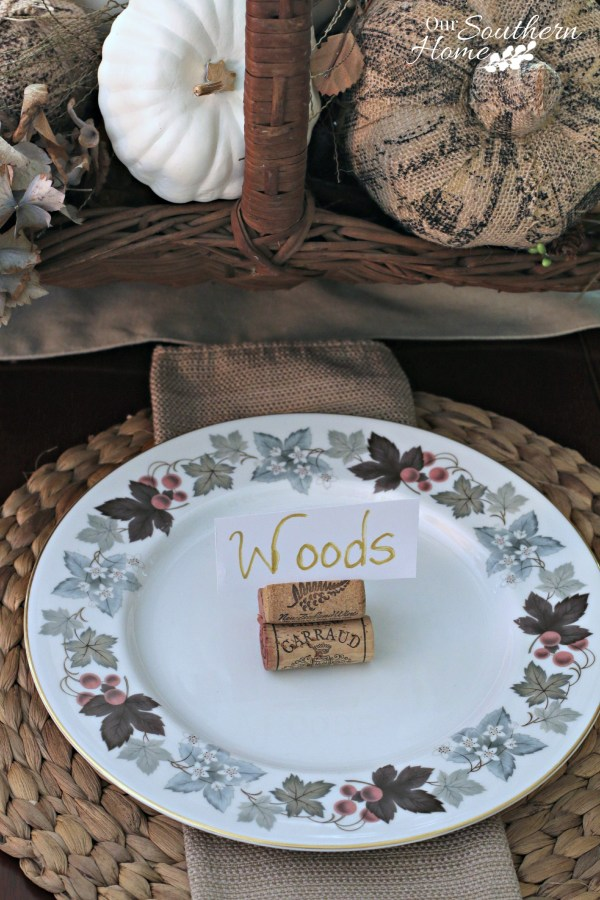 Thanksgiving tablescape for 2015 by our southern home 15