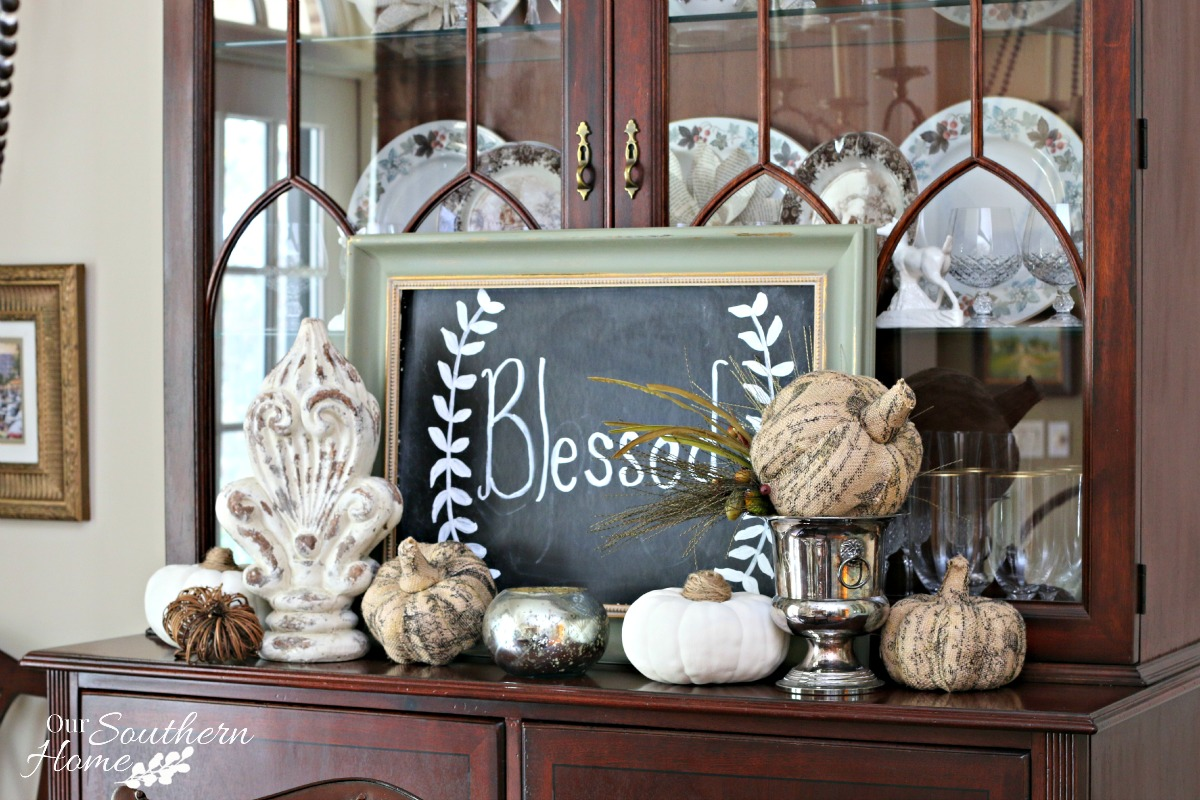 Thanksgiving tablescape for 2015 by our southern home 3