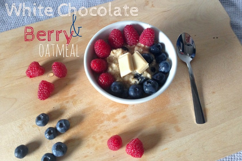 Warm White Chocolate Berry Oatmeal