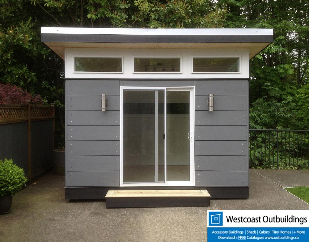 Modular backyard office lifestyle outbuilding westcoast for Prefab garden office