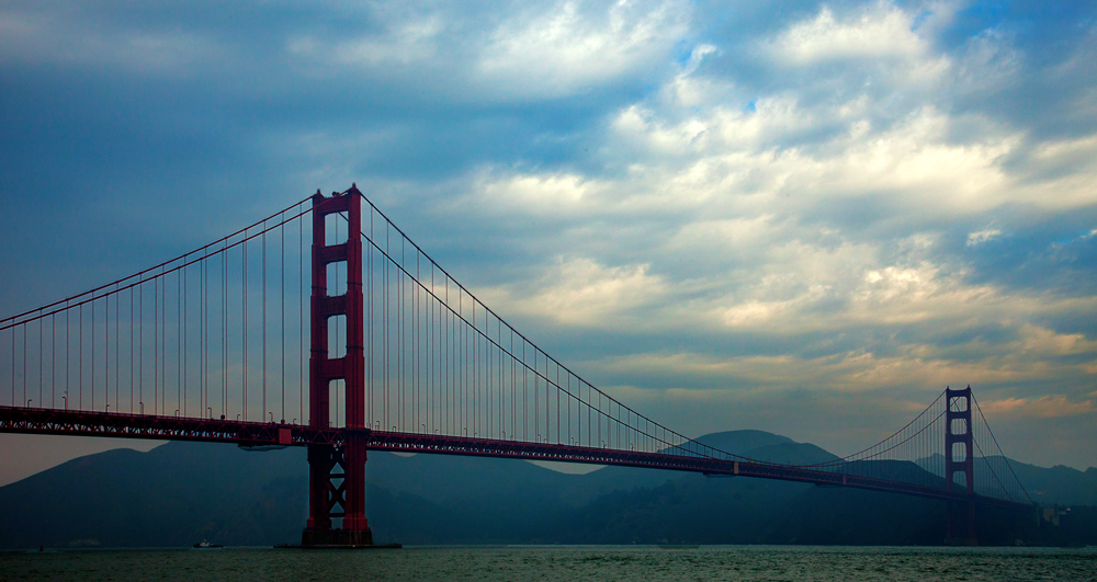 Shot of the Golden Gate Bridge from the Bay Trail