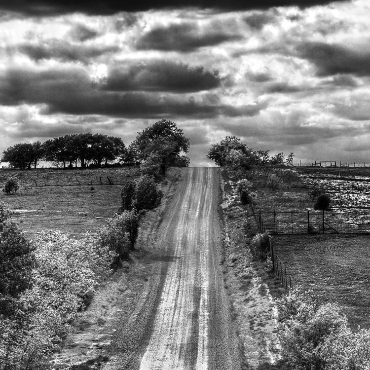 The Texas Road - Example of black and white photography