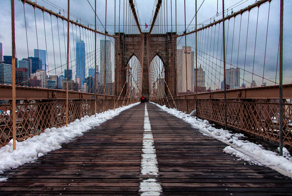 Photo taken walking across the Brooklyn Bridge from Brooklyn Bridge Park
