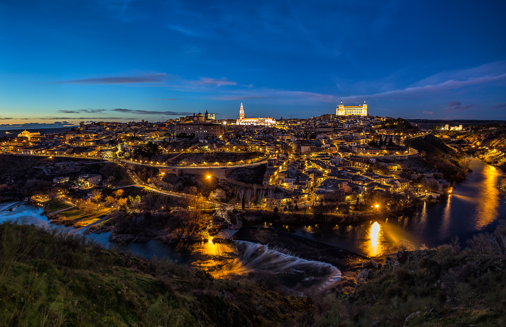 Toledo - Night shot from the Mirador del Valle