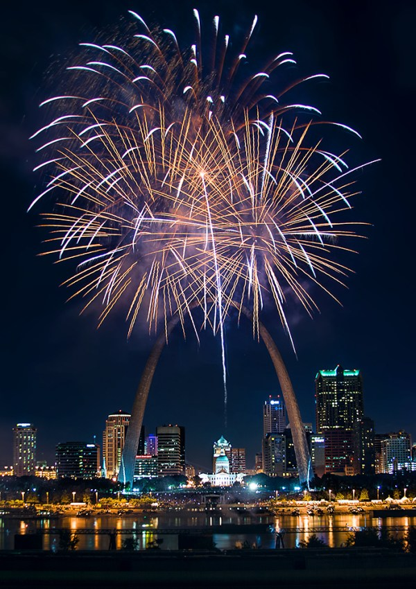 Fireworks in St Louis