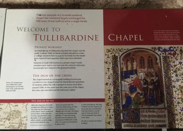 Tullibardine Chapel plaque