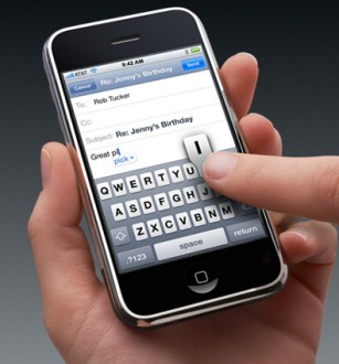 iphone keyboard iPhone Review: the best office PDA ever