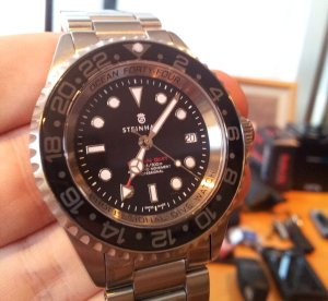 20120820 190621 300x275 For Sale: Steinhart Forty Four GMT Black