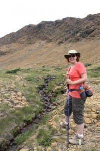 Brenda Hiking The Tablelands Trail