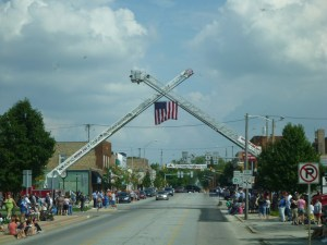 Passing Through Main Street In Nappanee, Indiana