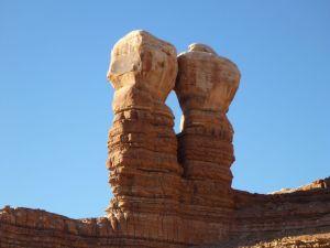 Navajo Twin Rocks In Bluff, Utah