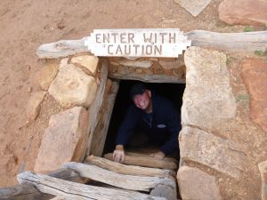 David Inside The Kiva