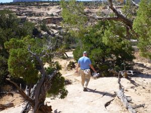 Hiking Down To The Natural Bridge