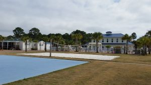 Basketball Court, Beach Volleyball Court And Pool Area With Club House