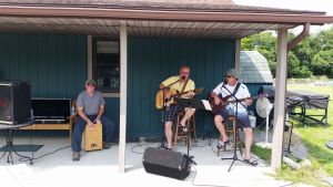 Playing With The Band During Campground Social Hour Poolside