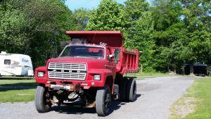 David Driving The Dump Truck