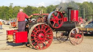 Steam Tractor On Display