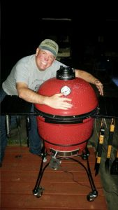 David And His Kamado Joe Grill/Smoker