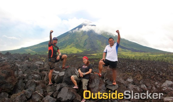 Bikers at Mayon's Lava Wall